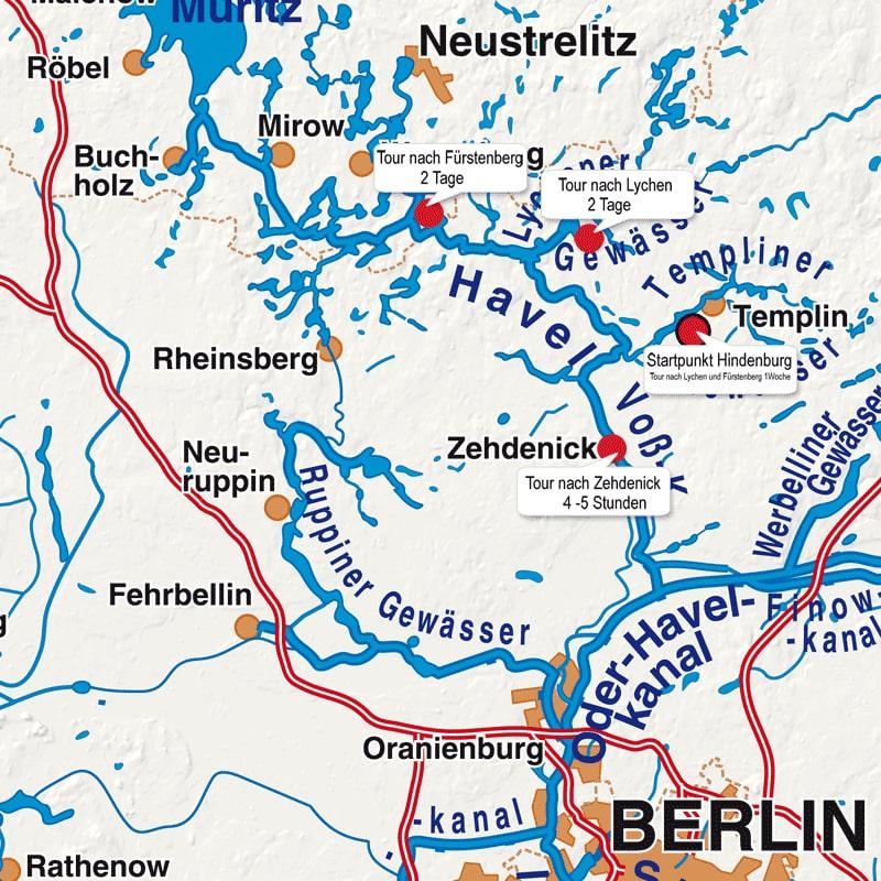 Floß mieten Brandenburg